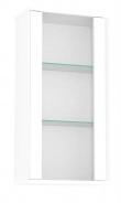 Prosklená závěsná skříňka REA Amy 24 - bílá