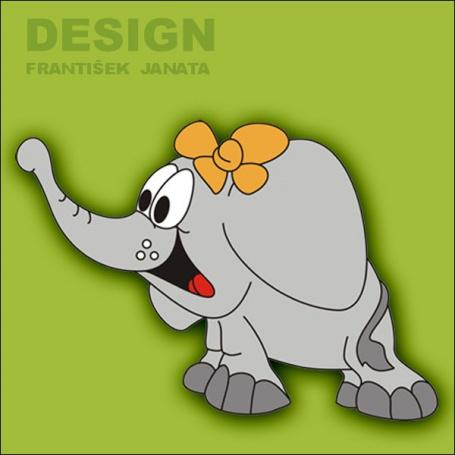 Dekorace na zeď Slon s mašlí