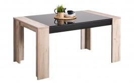 Jídelní stůl Vivo - dub šedý/černá