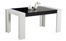 Jídelní stůl Vivo - bílá/černá