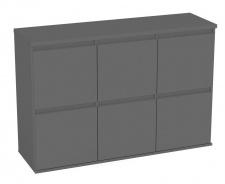 Komoda s 6 kontejnerovými zásuvkami REA Amy 18 - graphite
