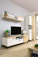 Obývací stěna II Otis - dub/bílá