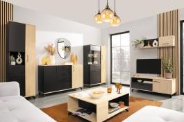 Obývací pokoj II Otis - dub/černá