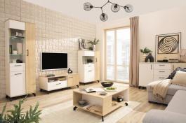 Obývací pokoj Otis - dub/bílá