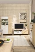 Obývací set II Otis - dub/bílá