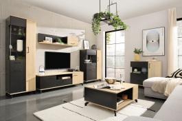 Obývací pokoj I Otis - dub/černá