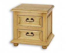 Dřevěný noční stolek s šuplíky COM 12 - výběr moření