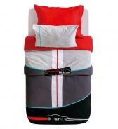 Set ložního prádla Rally 160x216cm - červená/černá/šedá