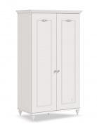 Dvoudveřová šatní skříň Ema - bílá