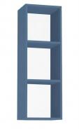 Závěsná skříňka REA Rebecca 10 - pow blue - s dvířky/bez dvířek