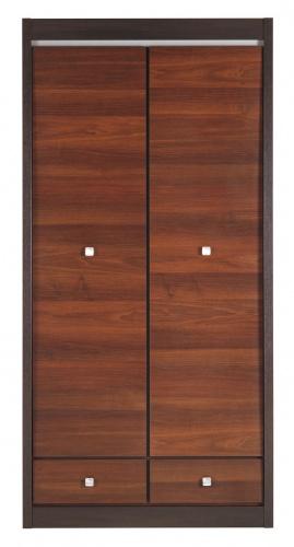 Šatní skříň Forrest 2D - ořech tmavý/dub milano