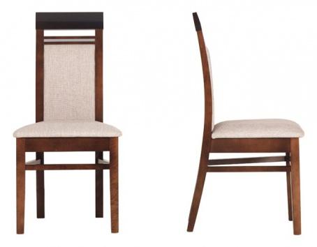 Jídelní židle Forrest - ořech tmavý/béžová