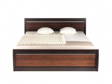 Manželská postel Forrest 180x200cm - ořech tmavý/dub milano