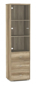 Prosklená vitrína REA Denisa Up 009 - dub canyon
