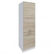 Potravinová skříňka, dub sonoma / bílá, FABIANA S - 60/210