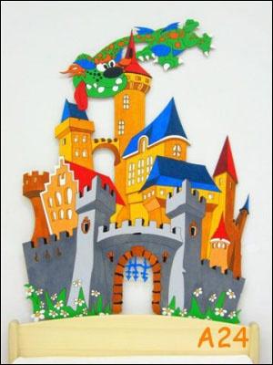 Dekorace na zeď hrad