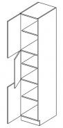 D40SL potravinová skříň PAULA šedá/mocca levá