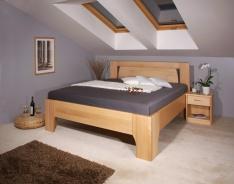 Masivní postel s úložným prostorem Olympia 1 - 160/180 x 200cm - výběr odstínů