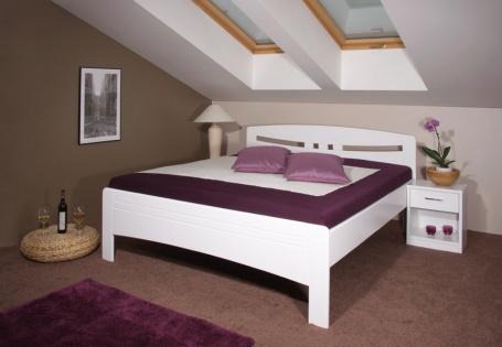 Masivní postel Evita - bílá