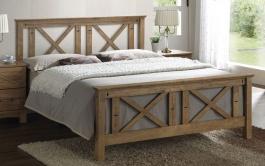 Manželská postel COUNTRY 180x200cm - masiv patina