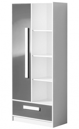 Kombinovaná skříň GULLIWER 3 bílá/šedá lesk