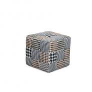 Designový taburet, látka patchwork, PEPITO TYP 8
