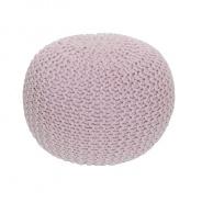 Pletený taburet, pudrová růžová bavlna, GOBI TYP 1