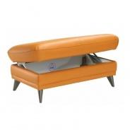Kožený taburet, na objednavku, kůže pampas Amber M9030, LIBERA