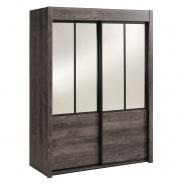 Šatní skříň se zrcadly Willy - pálená borovice