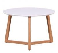 Konferenční stolek Mimzy - bílá/dub