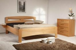 Masivní postel s úložným prostorem Evita 2 - 80/90/100 x 200cm - výběr odstínů
