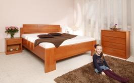 Masivní postel s úložným prostorem  Deluxe 1 - 80/90/100 x 200cm - výběr odstínů