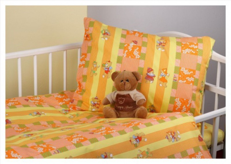 Dětské povlečení - Medvídci oranž