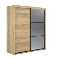 Šatní skříň s posuvnými dveřmi Land - dub catanya