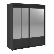 Šatní skříň s posuvnými dveřmi Land - černá