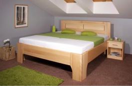 Masivní postel s úložným prostorem Olympia 3 - 160/180 x 200cm - výběr odstínů