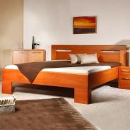 Masivní postel s úložným prostorem Varezza 5 - 120/140 x 200cm - výběr odstínů