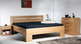 Masivní postel s úložným prostorem Varezza 3 - 120/140 x 200cm - výběr odstínů