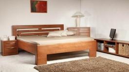 Masivní postel s úložným prostorem Varezza 2 - 120/140 x 200cm - výběr odstínů