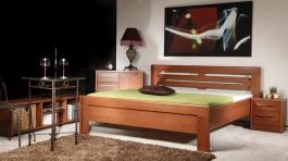 Masivní postel s úložným prostorem Arleta 2 - 120/140 x 200cm - výběr odstínů