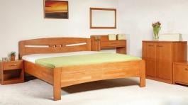 Masivní postel s úložným prostorem Evita 1 - 120/140 x 200cm - výběr odstínů