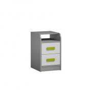 Kontejner k PC stolu, šedá / bílá / zelená, Piere P09