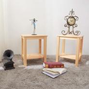 Noční stolek, dřevo / přírodní, FOSIL