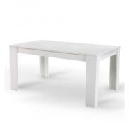 Jídelní stůl, bílá, 140, TOMY NEW