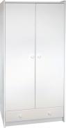 Šatní skříň Dany 2D1S - bílá