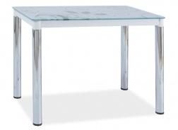 Jídelní stůl DAMAR II bílá-chrom