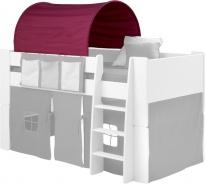 Textilní tunel k vyvýšené posteli Dany - lila/růžová