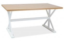 Jídelní stůl OXFORD 150 bílá/dub