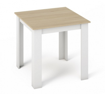 Jídelní stůl KONGO 80x80 sonoma/bílá