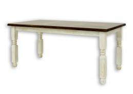Jídelní selský rustikální stůl z masivního dřeva 90x160cm MES 01 A s hladkou deskou - výběr moření